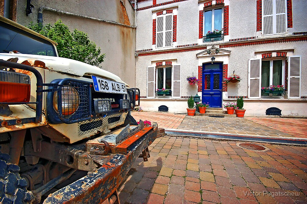 Old and rusty vs Old and quaint - Hautvillers. by Victor Pugatschew