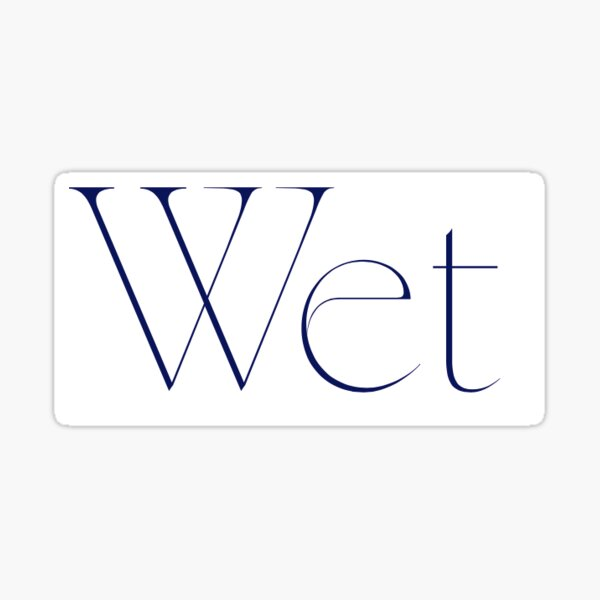 Wet Band Sticker Sticker