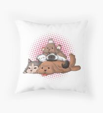 Pets on Ice Throw Pillow