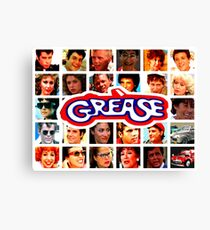 GREASE - COLLAGE Canvas Print