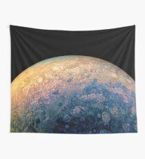Juno Polar View of Planet Jupiter Generative Painting Wall Tapestry