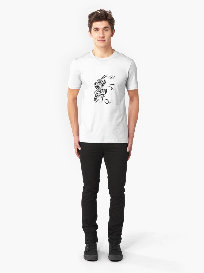 Alternate view of Scary Monster doodle Tee Slim Fit T-Shirt