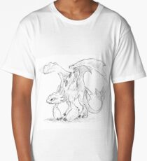 Toothless Pen Drawing Long T-Shirt