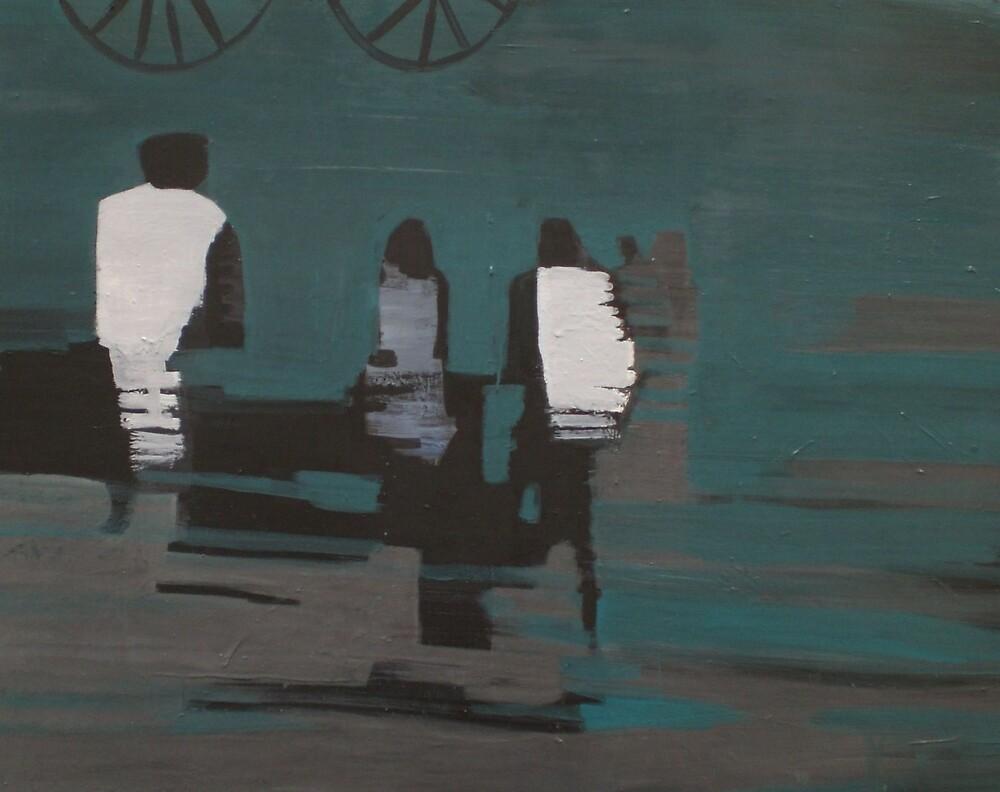 PEOPLE CROSSING  by Melissajay Egan