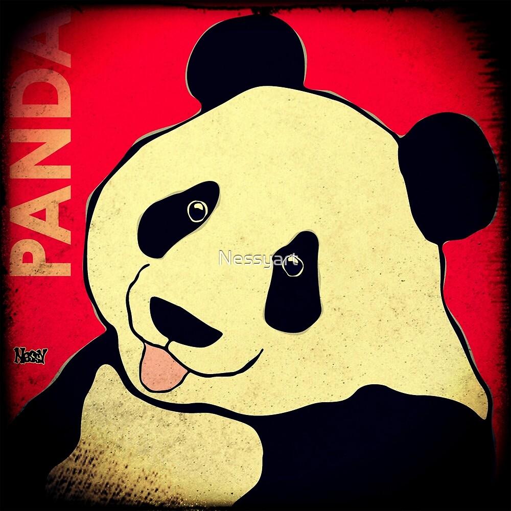 Panda Bear (Rustic) by Nessyart