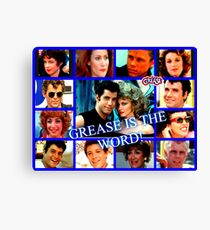 GREASE - COLLAGE #2 Canvas Print