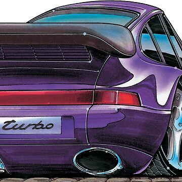 Porsche 993 911 Turbo Caricature by supercarshirts