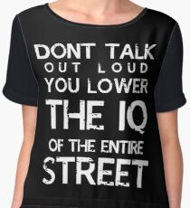 Sherlock - Don't Talk Out Loud... Women's Chiffon Top