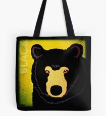 Black Bear (Rustic) Tote Bag