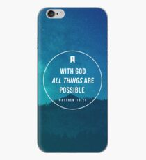 Matthew 19:26 iPhone Case
