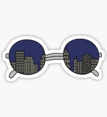 NY glasses Sticker