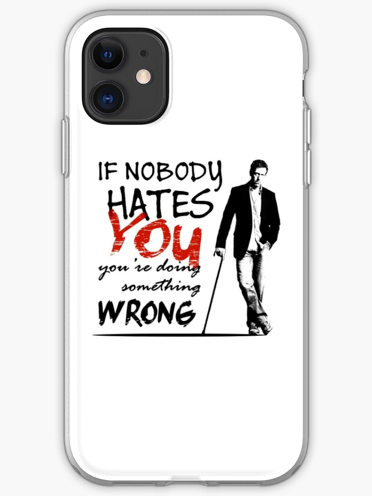 Dr House Vicodin Recommended Poster iphone case