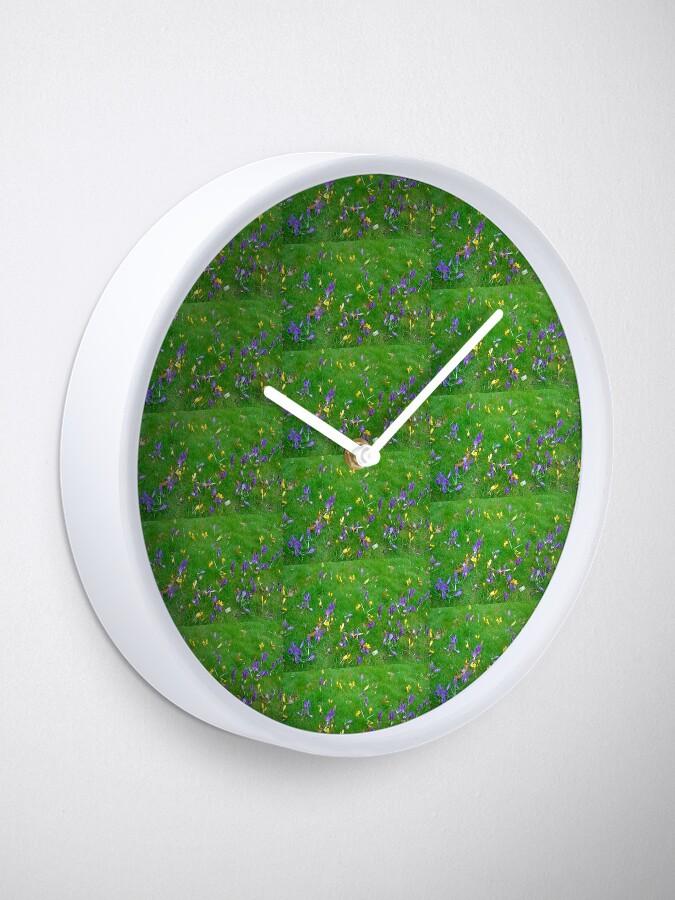 Alternate view of Crocuses  Clock
