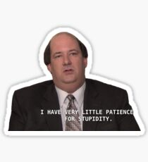 Kevin Malone Patience Sticker