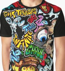 Hoodoo Dave and the Infinite Ghoul in colour Graphic T-Shirt