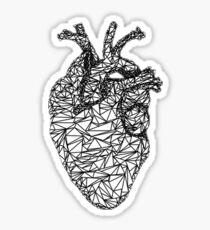 geometric heart Sticker