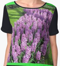 River of Purple - Bed of Hyacinths Women's Chiffon Top
