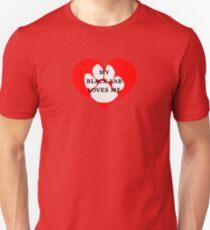 labrador retriever my black lab loves me Unisex T-Shirt