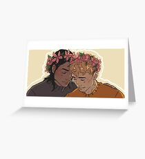 Carry On - Flowercrowns Greeting Card