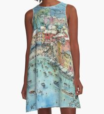Portofino, Italy A-Line Dress