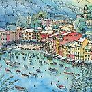 Portofino, Italy by Luca Massone  disegni