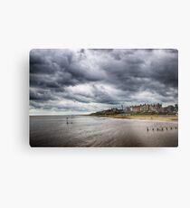 Stormy Seaside Metal Print