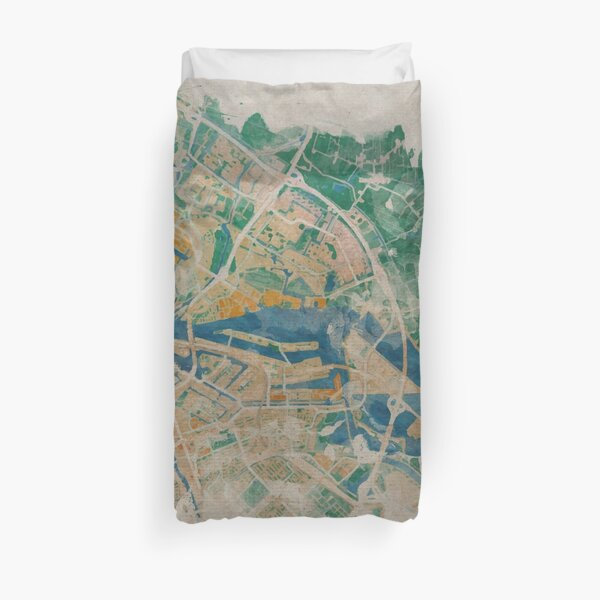 Amsterdam, the watercolor beauty Duvet Cover
