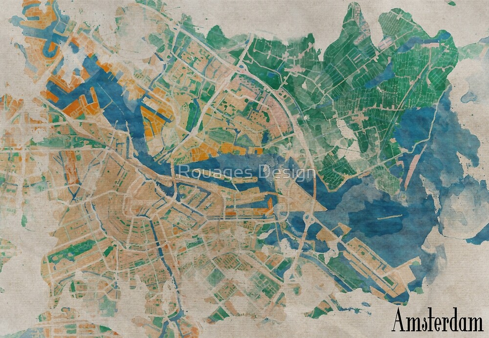 Amsterdam, the watercolor beauty by Rouages Design