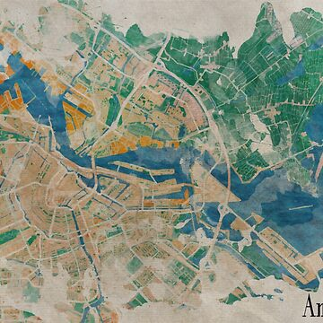 Amsterdam, the watercolor beauty by madday