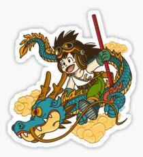 KID GOKU AND DRAGON Sticker