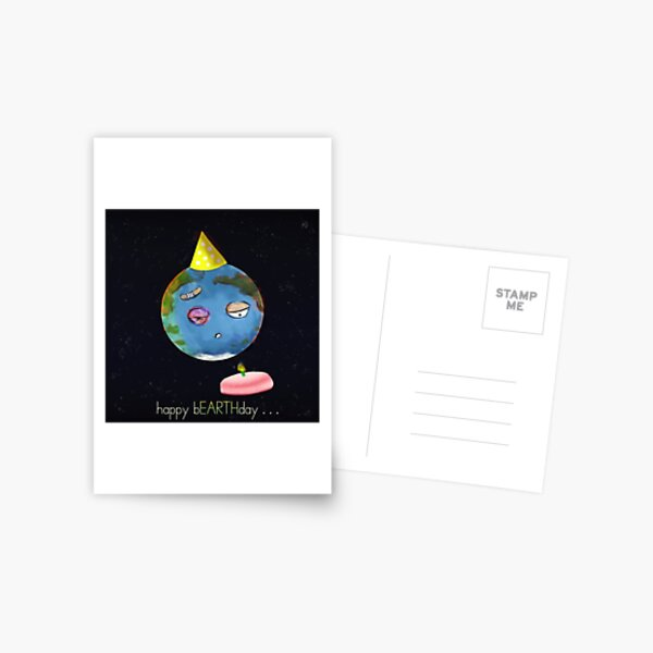 happy bEARTHday Postcard