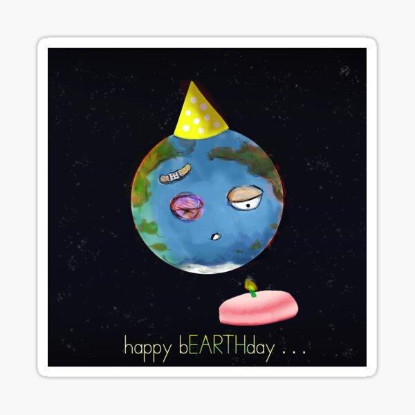happy bEARTHday Sticker