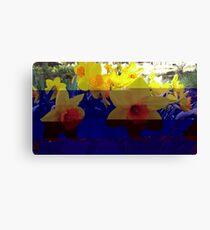 Glitch Daffodils Canvas Print