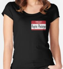 Hello My Name Is Regina Phalange - Friends Women's Fitted Scoop T-Shirt