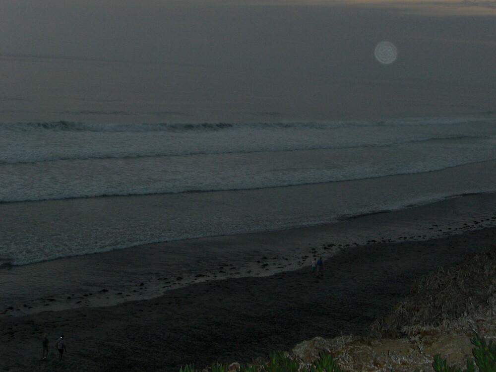 Moon Walk on the Beach by Timoteo Delgado