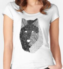 Wolf Mask Women's Fitted Scoop T-Shirt