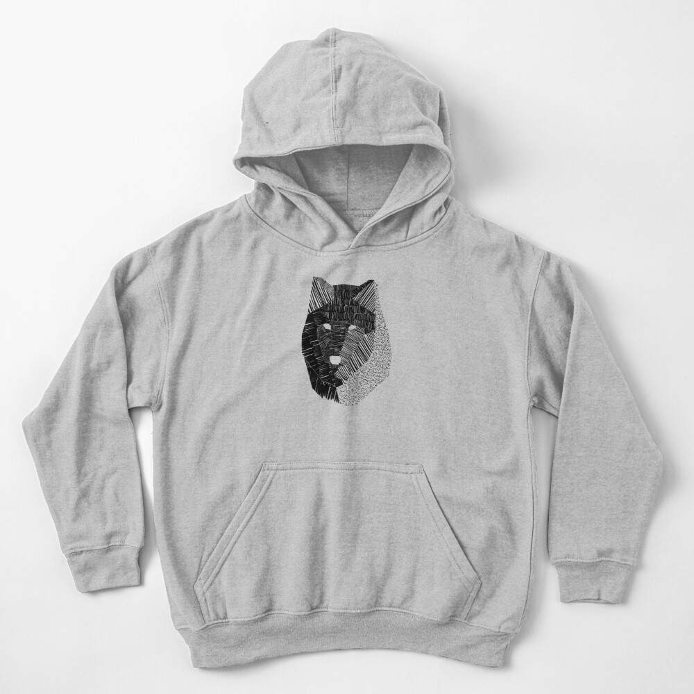 Wolf Mask Kids Pullover Hoodie