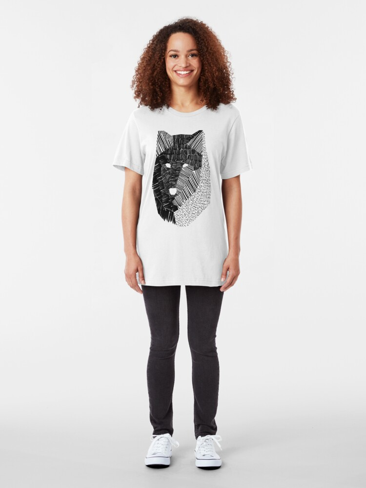 Alternate view of Wolf Mask Slim Fit T-Shirt