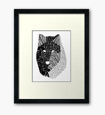 Wolf Mask Framed Print