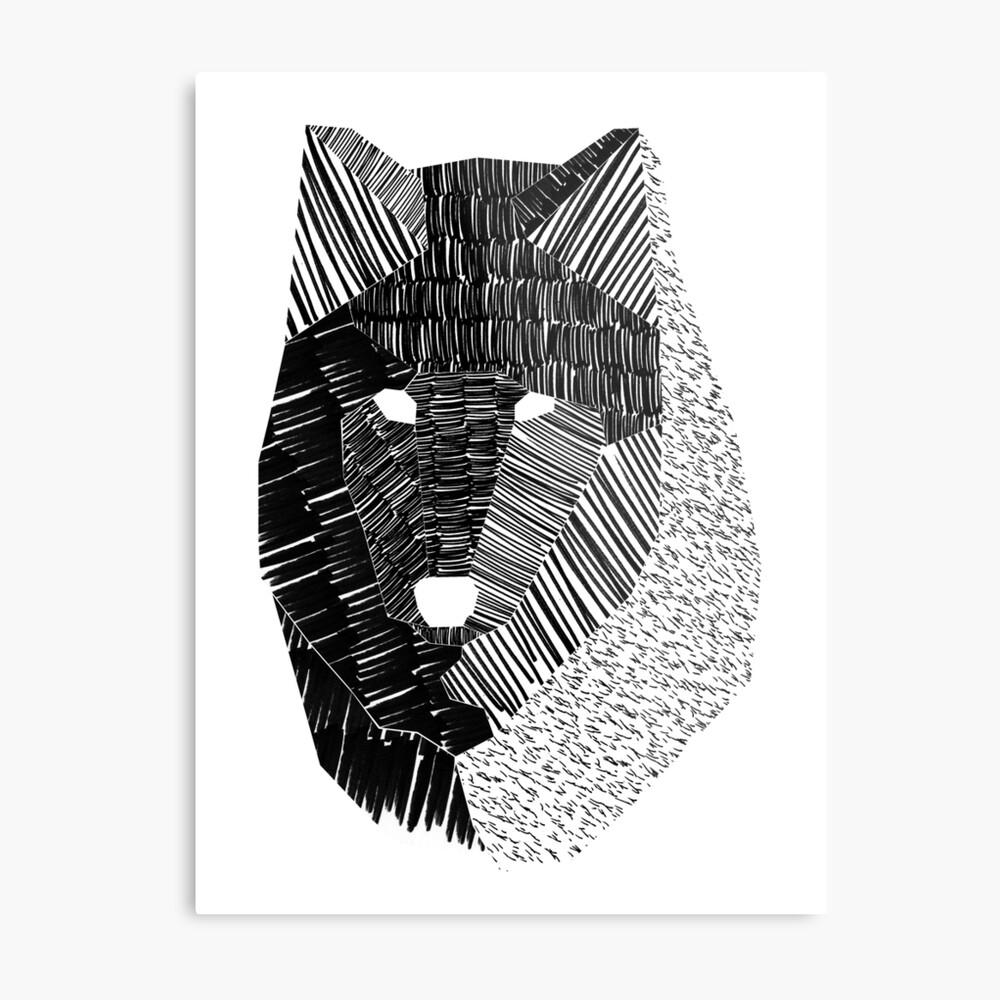 Wolf Mask Metal Print