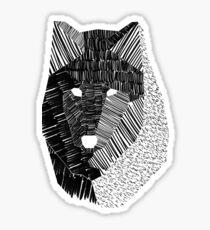 Wolf Mask Sticker