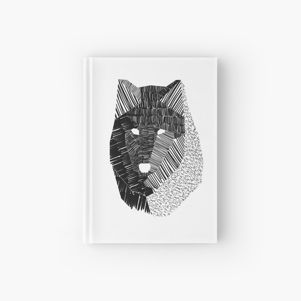 Wolf Mask Hardcover Journal