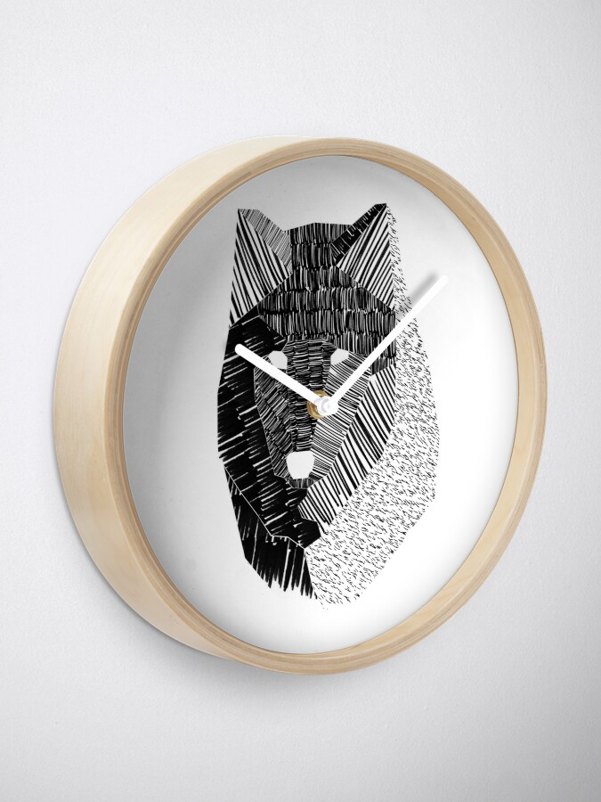Alternate view of Wolf Mask Clock
