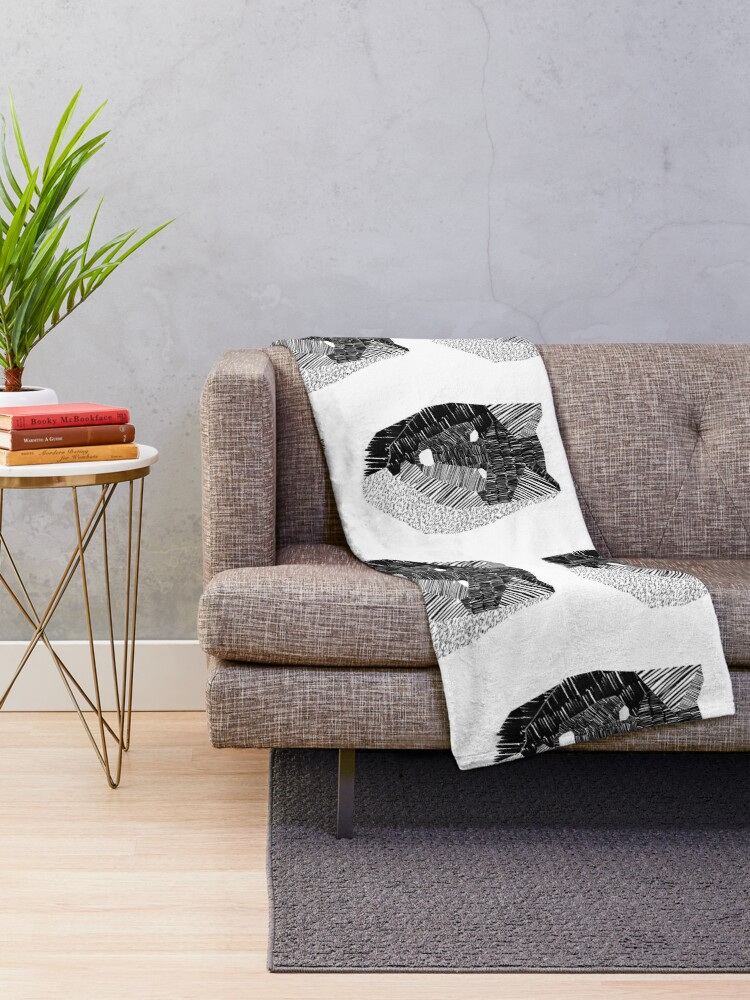 Alternate view of Wolf Mask Throw Blanket