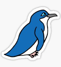 Worried Little Blue Penguin Sticker