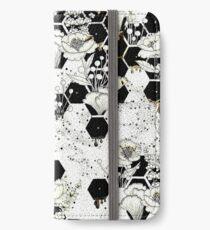 Weltraum-Biene iPhone Flip-Case/Hülle/Skin