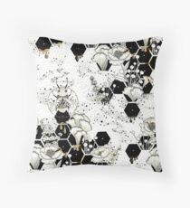 Space Bee Throw Pillow