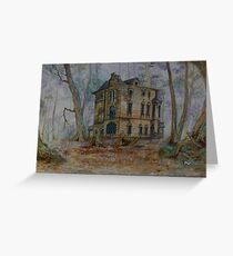 Haunted House 3 Greeting Card