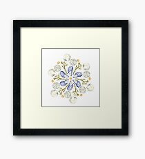 Tide Pool Beach Mandala 2 - Watercolor Framed Print