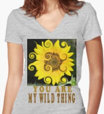 You Are My Wild Thing Women's Fitted V-Neck T-Shirt